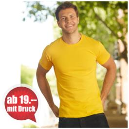 T-Shirt bedrucken aus der Schweiz - Fruit of the Loom sofspun Men