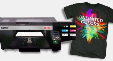 T-Shirts bedrucken aus der Schweiz mit Brother GTX-422